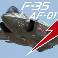 US Air Force F-35 AF-1 Lightning II with Pilot